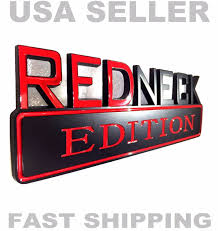 ford old logo redneck edition emblem dodge truck car logo ornament decal sign