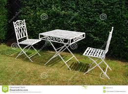 White Metal Patio Chairs White Iron Patio Furniture Photogiraffe Me