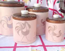 pink canisters kitchen pink canister set etsy