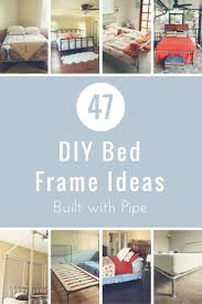 181 best beds made with pipe images on pinterest bed frames diy