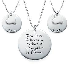engraved necklaces gift set of three engraved necklaces