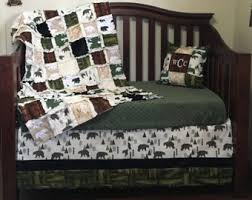 wild lake nursery collection rustic crib bedding deer baby