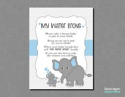 my water baby shower my water baby shower printable elephant