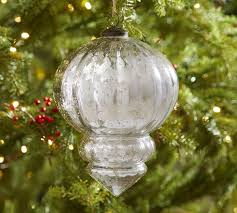 Red Mercury Glass Christmas Ornaments Oversized Silver Mercury Glass Ornaments Pottery Barn Ca