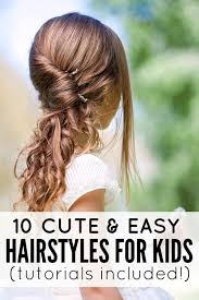 cute and easy hairstyles for kids