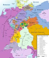 Bavaria Germany Map by Confederation Of The Rhine 1812 Full Size