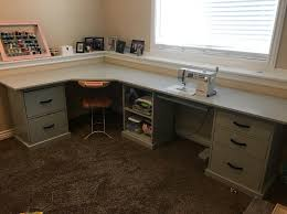 Corner Craft Desk White Corner Desk For Craft Room Sewing Diy Diy Projects