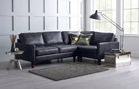 Black Leather Corner Sofa Columbus Black Leather Corner Sofa