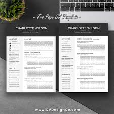 Instant Resume Templates Best Selling Resume Cv Template The Charlotte Instant Download