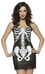 Skeleton Dress Ladies Womens Cheap Halloween Fancy Dress Costume Skeleton