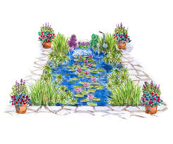 better homes and gardens plan a garden garden plans with water in a starring role