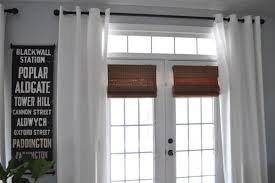 White Bamboo Curtains Bungalow Blue Interiors Home