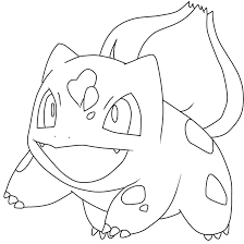 bulbasur colouring pages within pokemon coloring bulbasaur with