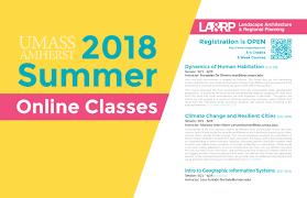 5 hours class online summer online 2018 landscape architecture regional planning