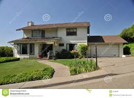 two story house with walkway to front royalty free stock image