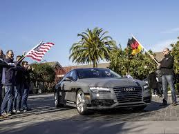 san francisco audi audi a7 drives auto pilot to vegas business insider