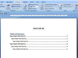 cara membuat garis pada daftar isi makalah cara membuat daftar isi secara otomatis di microsoft word