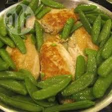 comment cuisiner les pois mange tout recette poulet aux pois gourmands toutes les recettes allrecipes