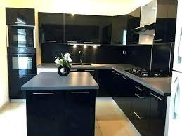 cuisine en noir cuisine noir et bois decoration with cuisine noir et bois cuisine