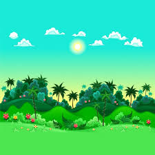 coloured jungle background vector free download
