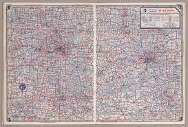 Missouri Road Map Rand Mcnally Road Map Missouri David Rumsey Historical Map