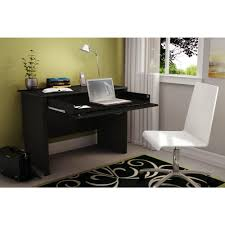 Secretary Computer Desk by South Shore Work Id Solid Black Workstations 7070795 The Home Depot