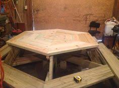 Octagon Picnic Table With Plans Step Iges Autodesk Inventor by Custom Hand Made Octagon Picnic Autodesk Inventor 1000 Ideas