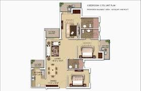 1400 Sq Ft Morpheus Bluebell Noida Extension Morpheus Bluebell Floor Plan