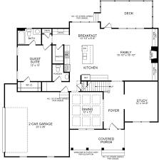 Family Floor Plans Jenna Southerlyn Estates Cary North Carolina D R Horton