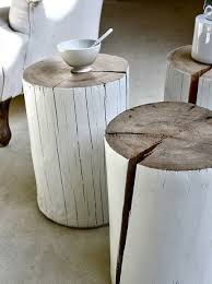 tree trunk bedside table creative design of tree trunk side table for home decoration homesfeed