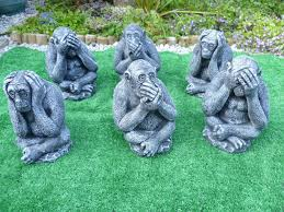 3 wise monkeys garden ornaments 15 in hull east