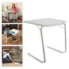 Wall Mount Laptop Desk by 1pc White Adjustable Smart Laptop Desk Table Mate Foldable Tray