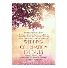 Love Bird Wedding Invitations Pink Oak Tree U0026 Love Birds Wedding Invitation Card