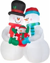 spectacular deal on lighted snowman family decor