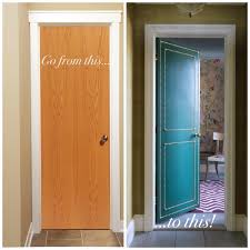 Home Interior Doors by Diy Do You Have Boring Ugly Flat Interior Doors Why Not Paint