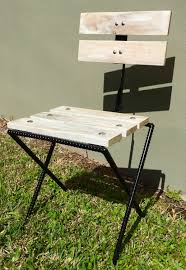 Bistro Patio Chairs Rebar Pallet Wood Rustic Bistro Patio Chair Reclaimed Wood