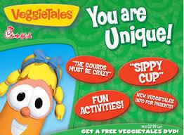 learning veggietales cds included in fil a