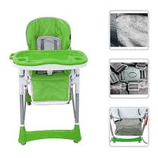 High Chair 3 Months Adjustable Baby High Chair Green Chair With Shelf For Children