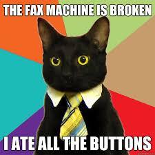 Fax Meme - the fax machine cat meme cat planet cat planet