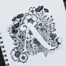 typography calligraphy flowers alphabet a u2026 zentangle