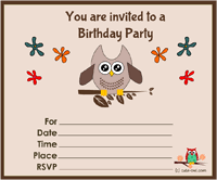 owl birthday invitations owl birthday invitations with stunning