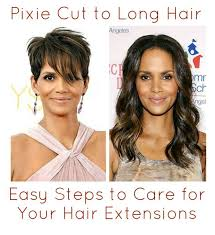 pixie to long hair extensions a beautiful little life pixie cut to long hair easy steps to