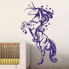 Wall Decals For Girls Bedroom Unicorn Horse Nursery Girls Bedroom Wall Decal Decor Sticker Art
