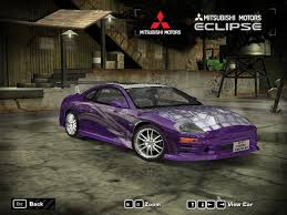 eclipse mitsubishi fast and furious need for speed most wanted mitsubishi 2f2f eclipse vinyls nfscars