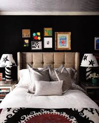 black walls in bedroom brick house