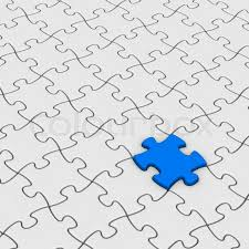 gray jigsaw puzzles with one stock photo colourbox