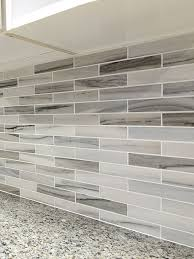 Modern White Gray Subway Marble Backsplash Tile - Marble backsplash tiles