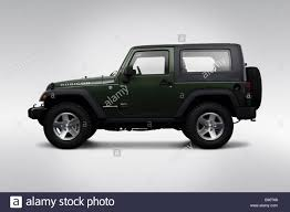 2009 jeep wrangler rubicon 2009 jeep wrangler rubicon in green drivers side profile stock