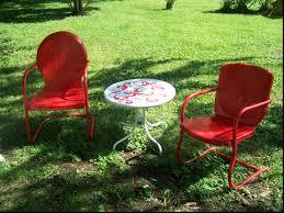 Retro Metal Patio Chairs Retro Patio Chairs Comvax Us