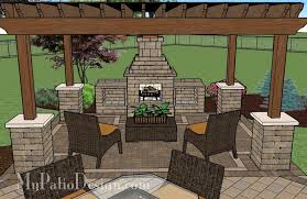 Outdoor Fireplace Patio Designs Dreamy Fireplace Patio Design With Pergola 635 Sq Ft Pergolas